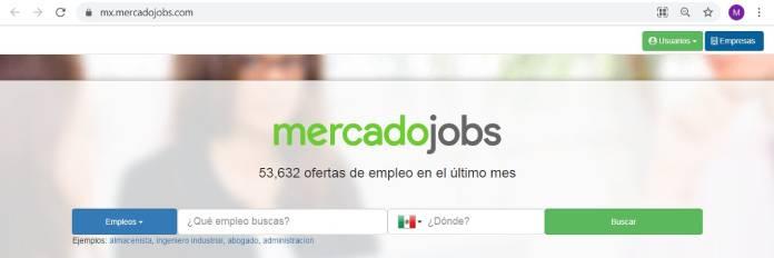 Páginas de empleo en México - MercadoJobs