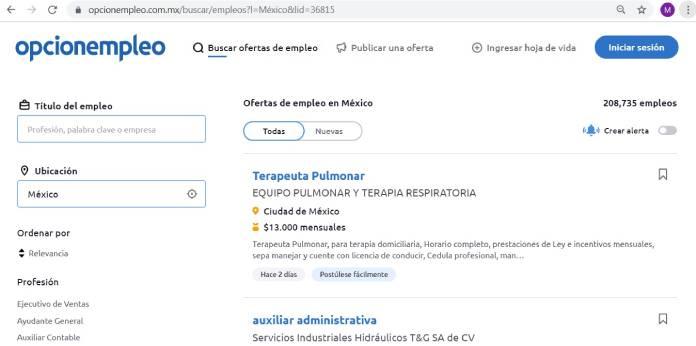 Páginas de empleo en México - OpciónEmpleo