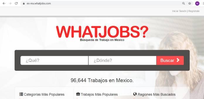 Páginas de empleo en México - Whatjobs