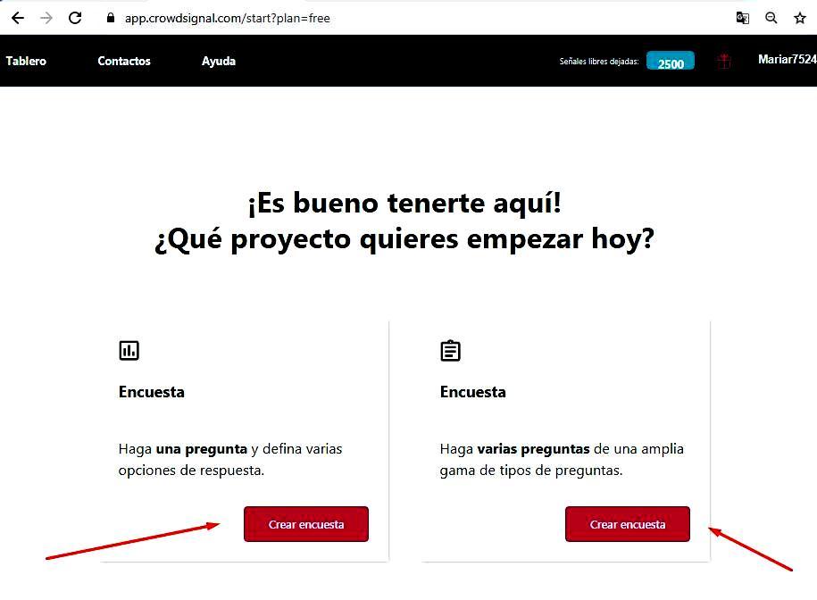 Páginas para hacer encuestas - Comenzar en Crowdsignal