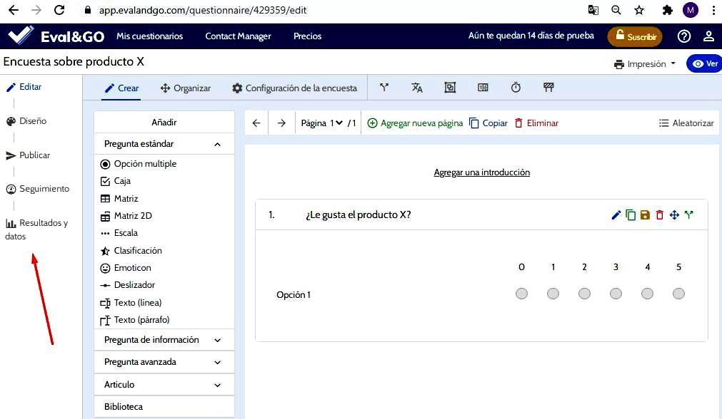 Páginas para hacer encuestas - Configuración de la encuesta