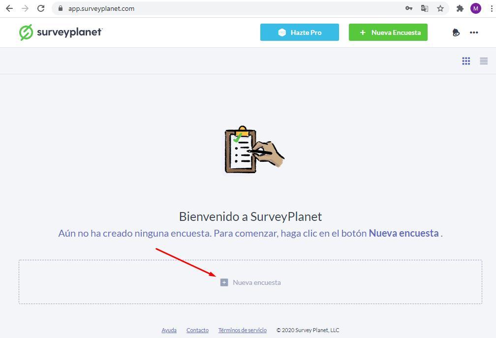 Páginas para hacer encuestas - Crear encuesta Surveyplanet