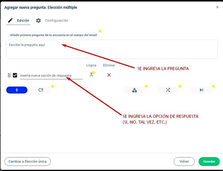 Páginas para hacer encuestas - Ingresar las preguntas en Encuestas.com