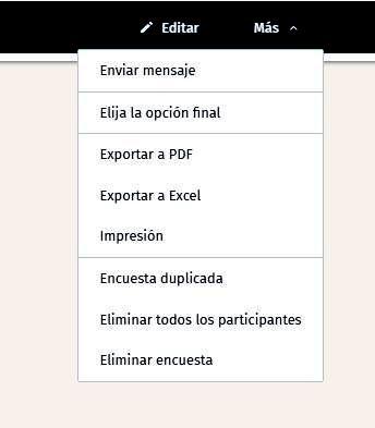 Páginas para hacer encuestas - Opciones de envío