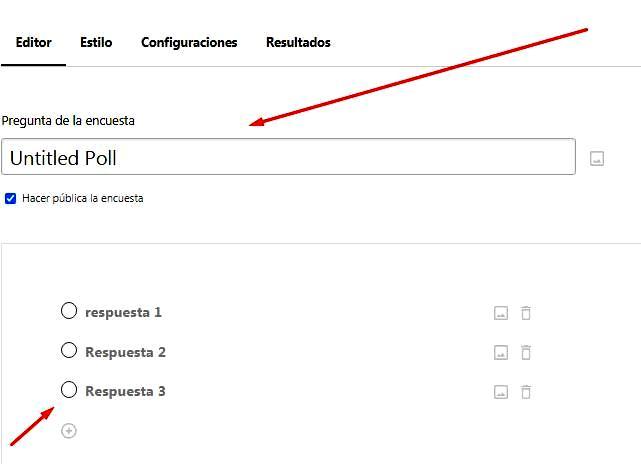 Páginas para hacer encuestas - Preguntas de Crowdsignal