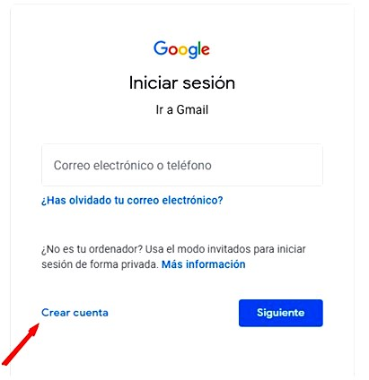 Páginas para hacer encuestas - Crear cuenta para Google Forms