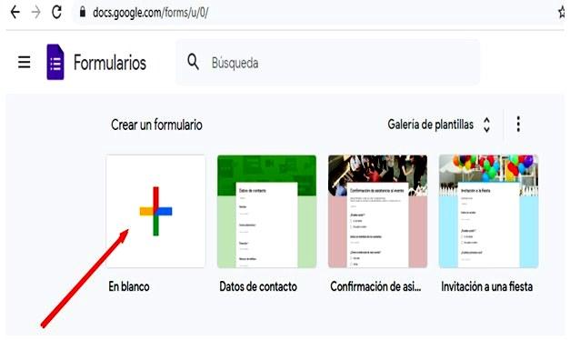 Páginas para hacer encuestas - Formularios Google Forms