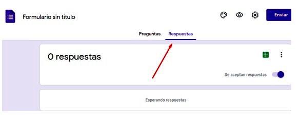Páginas para hacer encuestas - Sección de respuestas de formulario Google Forms