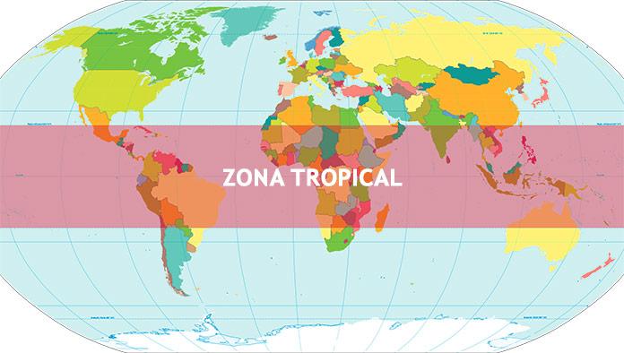Países con clima tropical - Zona tropical del mundo