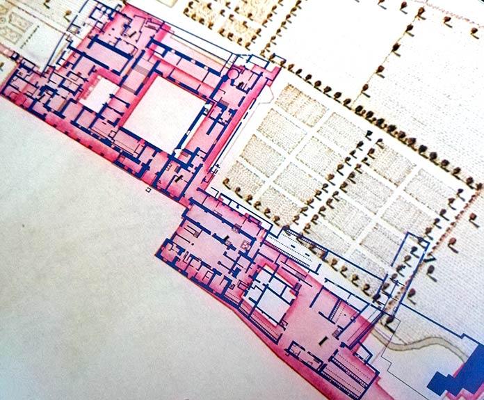Plano de las estancias del palacio