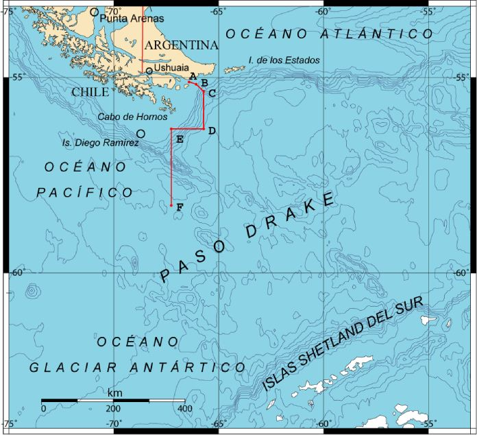 Pasaje-Drake-Mapa