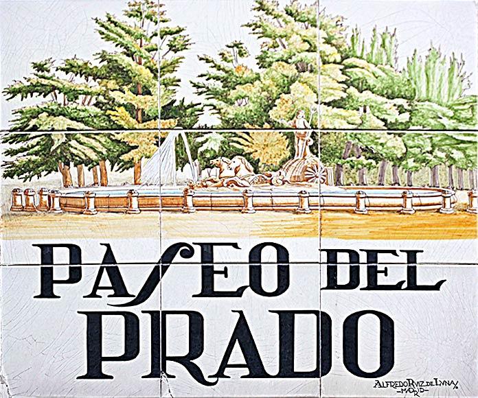 Placa del Paseo del Prado de Madrid