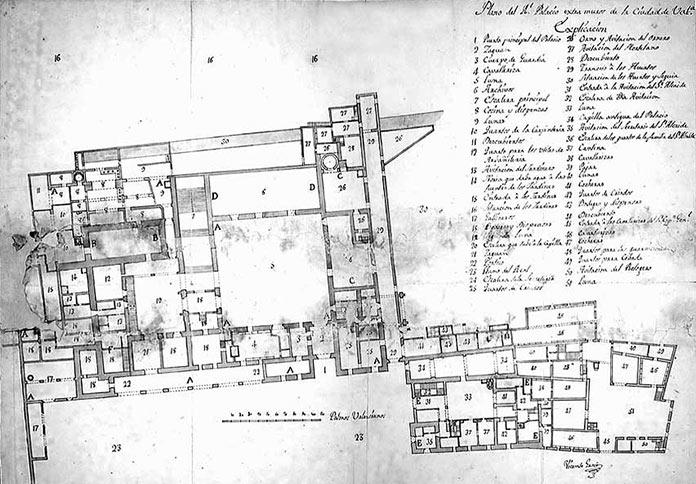 Plano del Palacio del Real de Valencia