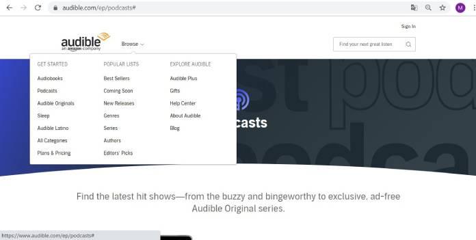 Plataformas de podcast - Audible