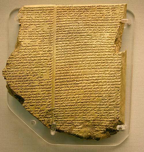 Tipos de escritura: epopeya de Gilgamesh