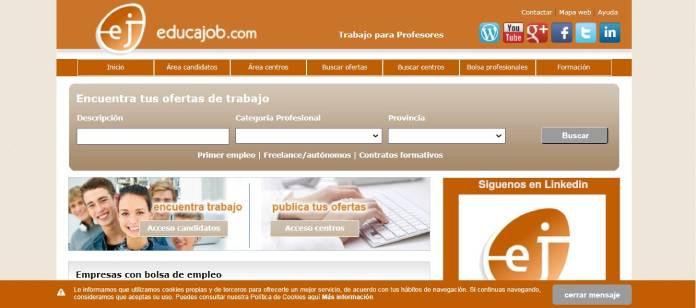 Portales de empleo en España - Educajob