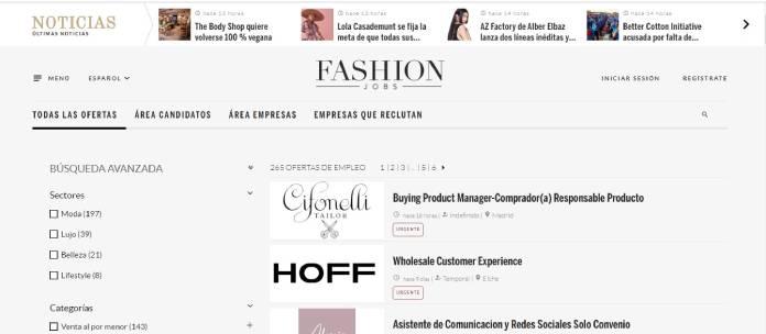 Portales de empleo en España - Fashionjobs