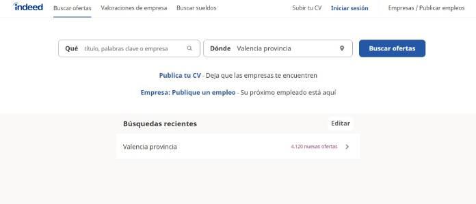 Portales de empleo en España - Indeed