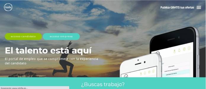 Portales de empleo en España - Jobfie