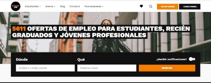 Portales de empleo en España - Studentjob