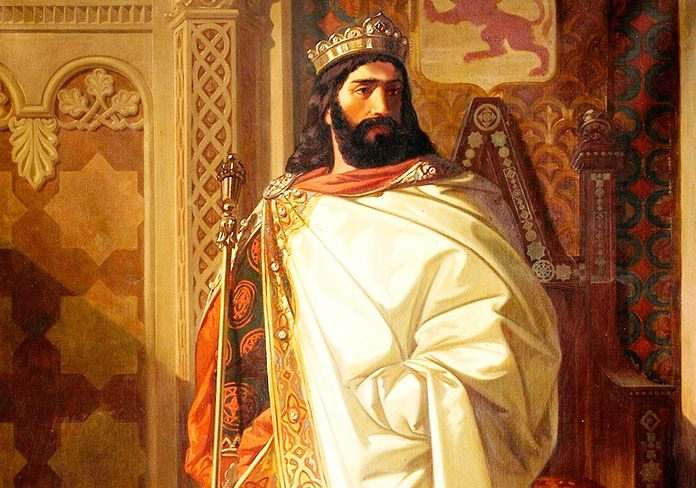 Reyes de la península ibérica. Nepociano Díaz y Ramiro I