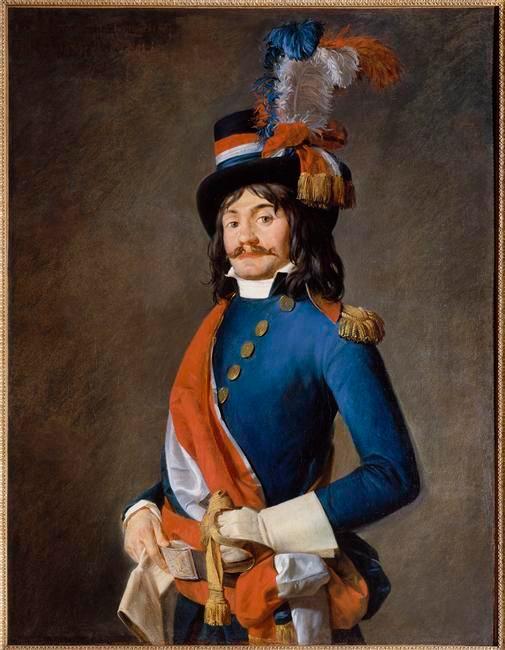 Retrato de un representante en misión atribuido al pintor Jacques Louis David