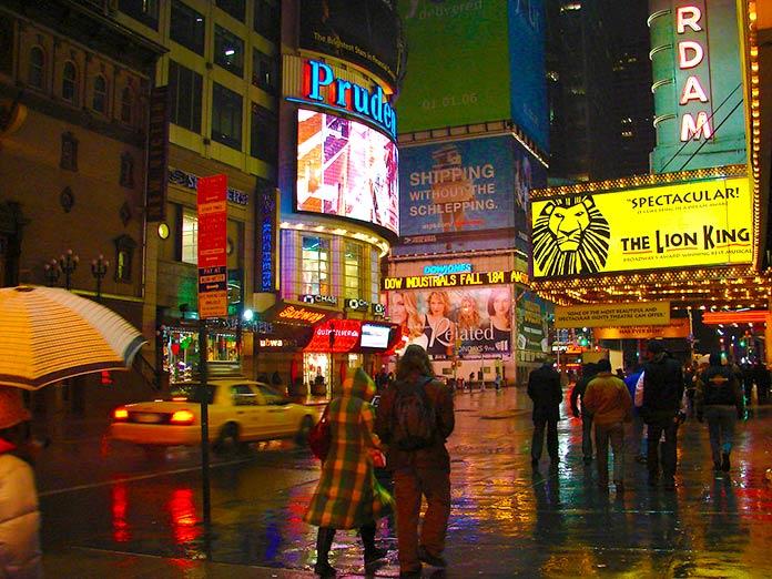 Musical El Rey León en Times Square