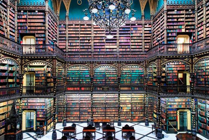 Sala de lectura real portuguesa, Río de Janeiro, Brasil