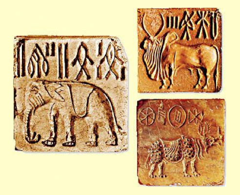 Tipos de escritura: Sellos del Valle del Indo