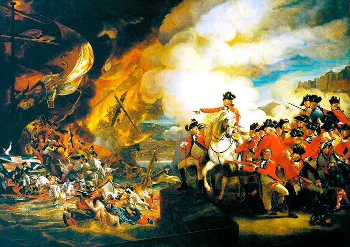 Combates navales. El Gran Sitio de Gibraltar