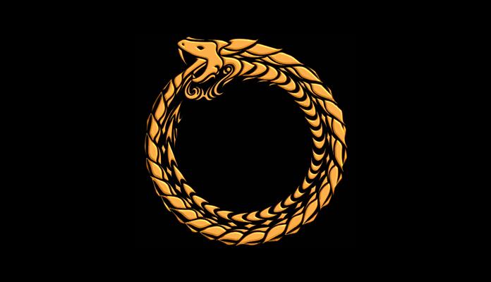 Uróboros, símbolo de la serpiente que se engulle su propia cola