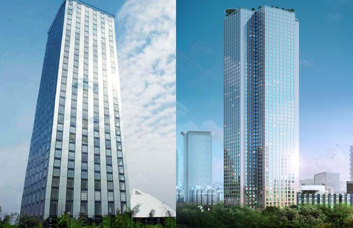 El T30 Hotel (izquierda) y el J57 Mini Sky City (derecha).