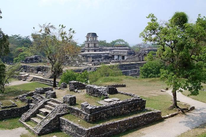 Templos mayas. Palenque. Vista panorámica.