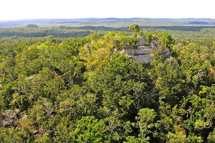Templos Mayas. El Mirador. Vista aérea de la pirámide La Danta.