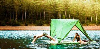 Tentsile Universe, la tienda de campaña que navega sobre el agua