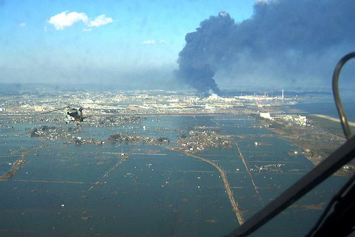 Puerto de Sendai tras el terremoto y tsunami de 2011
