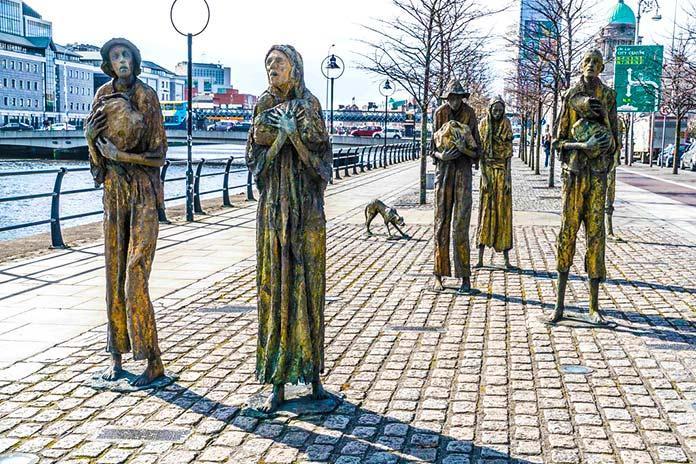 Esculturas conmemorativas de 'The Famine'.