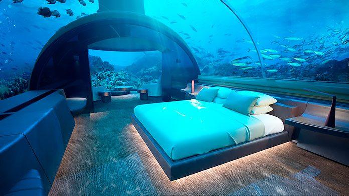 The muraka un hotel sorprendente en el fondo del mar for El hotel que esta debajo del agua