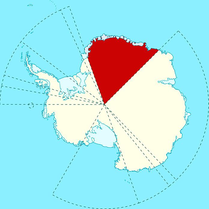 Localización de la Tierra de la Reina Maud en la Antártida.