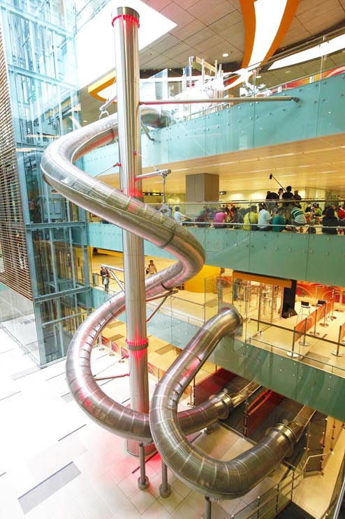 Toboganes del aeropuerto de Changi