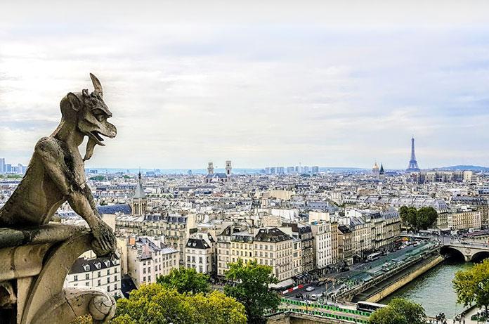 vistas de París y la Torre Eiffel