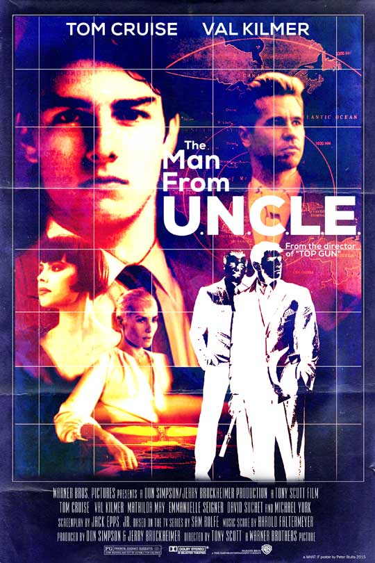 "Cartel de ""The Man from UNCLE"" (1987)"