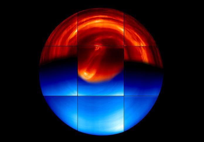 Vista global del hemisferio sur de Venus