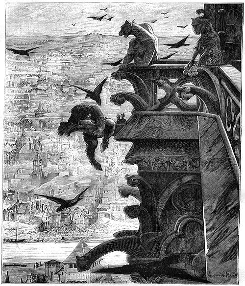 Ilustración de la edición original de Nuestra Señora de París