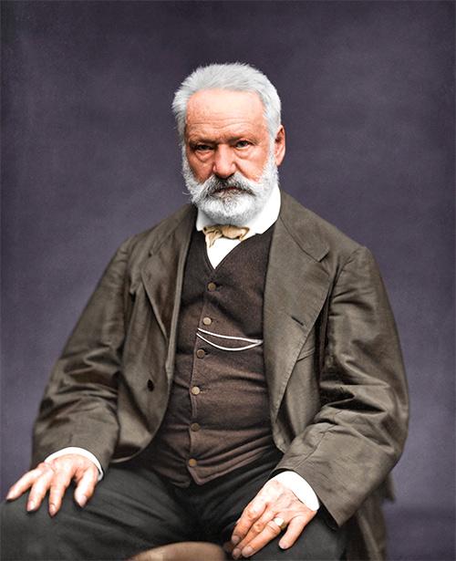 Fotografía colorizada de Victor Hugo