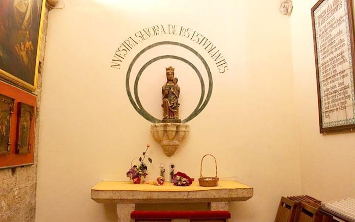 Virgen de los Estudiantes, Iglesia de San Juan del Hospital