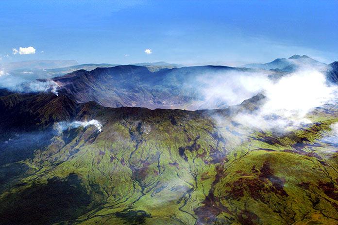 volcán Tambora en Indonesia