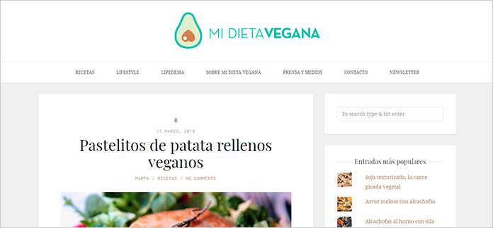 Web Mi Dieta Vegana