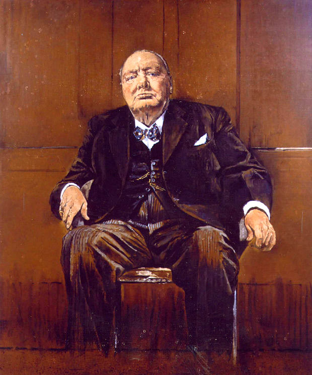 Retrato de Winston Churchill po Graham Sutherland