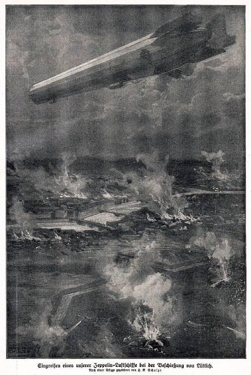 Zeppelin-En-La-Primera-Guerra-Mundial-Bombardeo-Lieja